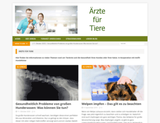 aerztefuertiere.de screenshot