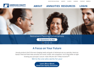 aeservicecenter.american-equity.com screenshot