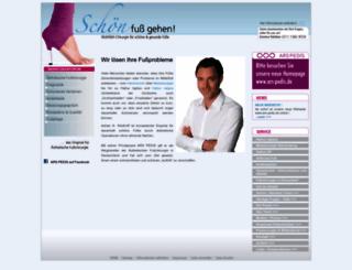 aesthetische-fusschirurgie.info screenshot