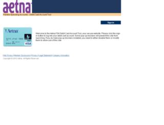 aetnafsadebitcard.com screenshot