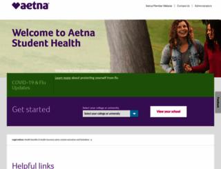 aetnastudenthealth.com screenshot