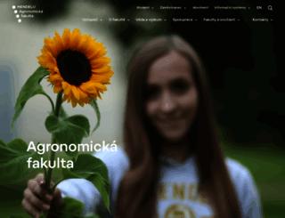 af.mendelu.cz screenshot