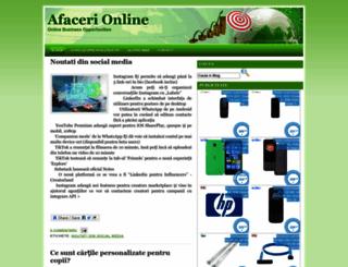afacerionlinereale.blogspot.com screenshot