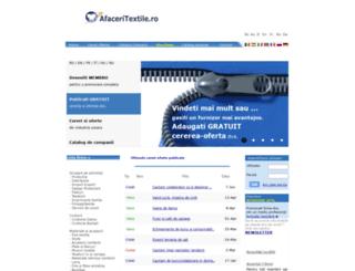 afaceritextile.ro screenshot