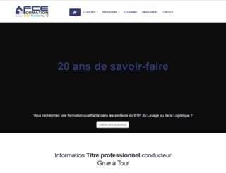 afce.fr screenshot