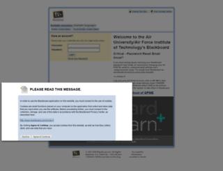 afclc.blackboard.com screenshot