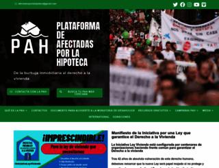 afectadosporlahipoteca.com screenshot