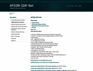 afedri-sdr.com screenshot
