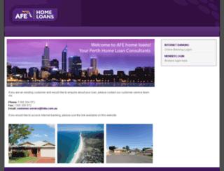 afehomeloans.com.au screenshot