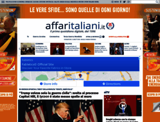 affaritaliani.it screenshot