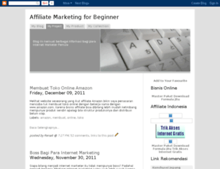 affiliate-beginner.blogspot.com screenshot