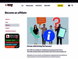 affiliate.drivingtestsuccess.com screenshot
