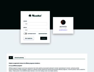 affiliate.hanibal.cz screenshot