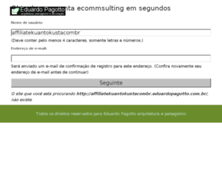 affiliate.kuantokusta.com.br screenshot