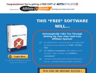 affiliatecannon.com screenshot
