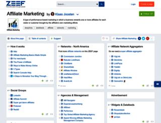 affiliatemarketing.zeef.com screenshot