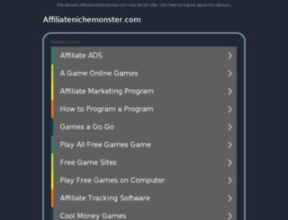 affiliatenichemonster.com screenshot