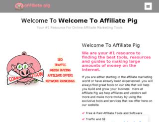 affiliatepig.com screenshot