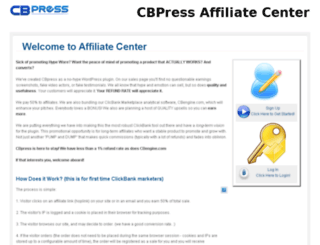 affiliates.cbpress.com screenshot