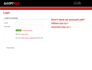 affiliates.goopyads.com screenshot