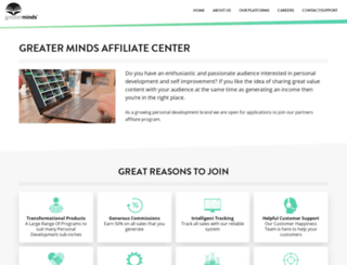 affiliates.greaterminds.com screenshot