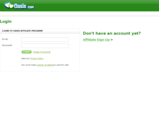affiliates.oasis.com screenshot