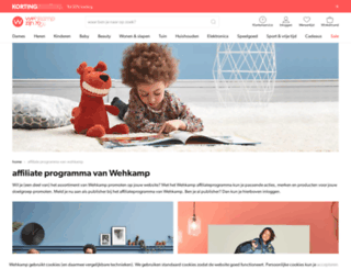 affiliates.wehkamp.nl screenshot