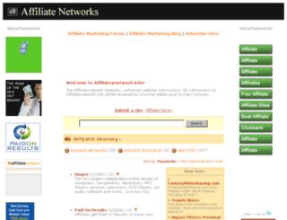 affiliatesnetwork.info screenshot