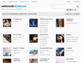 affiliatesummary.com screenshot
