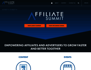 affiliatesummit.com screenshot