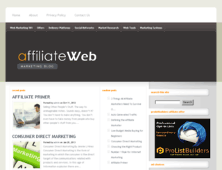 affiliatewebmarketingblog.com screenshot