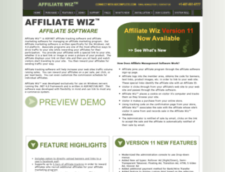affiliatewiz.com screenshot