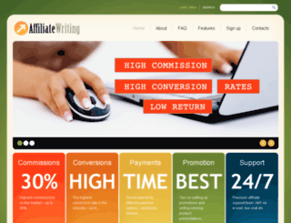 affiliatewriting.com screenshot