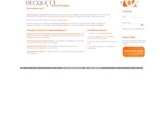 affiliation.becquet.fr screenshot