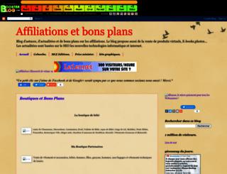 affiliations-et-bons-plan.boosterblog.com screenshot