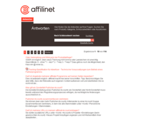 affilinet-at.custhelp.com screenshot