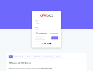 affilo.cz screenshot