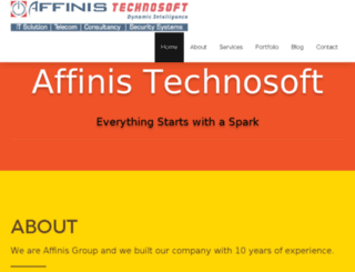 affinis.in screenshot