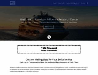 affluenceresearch.org screenshot
