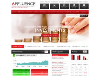 affluencetrade.com screenshot