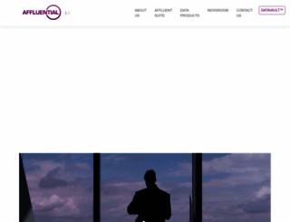 affluential.com screenshot