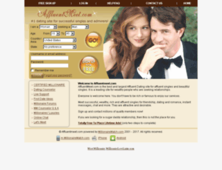 affluentmeet.com screenshot
