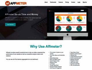 affmeter.com screenshot