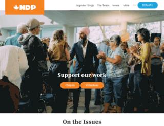 affordable.ndp.ca screenshot
