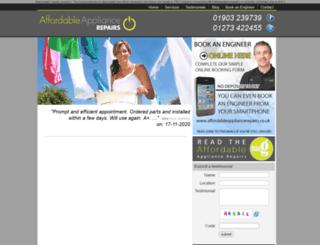affordableappliancerepairs.co.uk screenshot