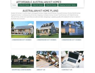 affordableaustraliankithomes.com.au screenshot