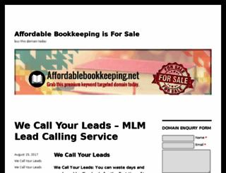 affordablebookkeeping.net screenshot