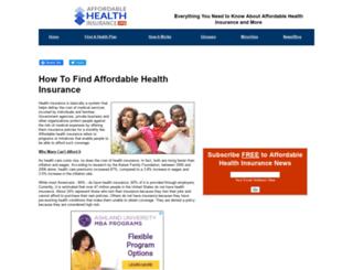 affordablehealthinsurance.org screenshot