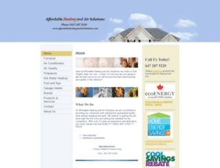 affordableheatandair.ca screenshot