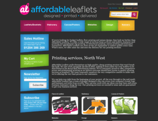 affordableleaflets.co.uk screenshot